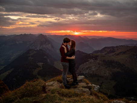 Adventurous Couple Photo in the Austrian Mountains