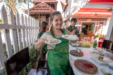 spring roll cooking class in Ninh Binh in Vietnam