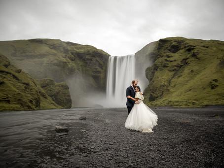Honeymoon Wedding Photos in Iceland