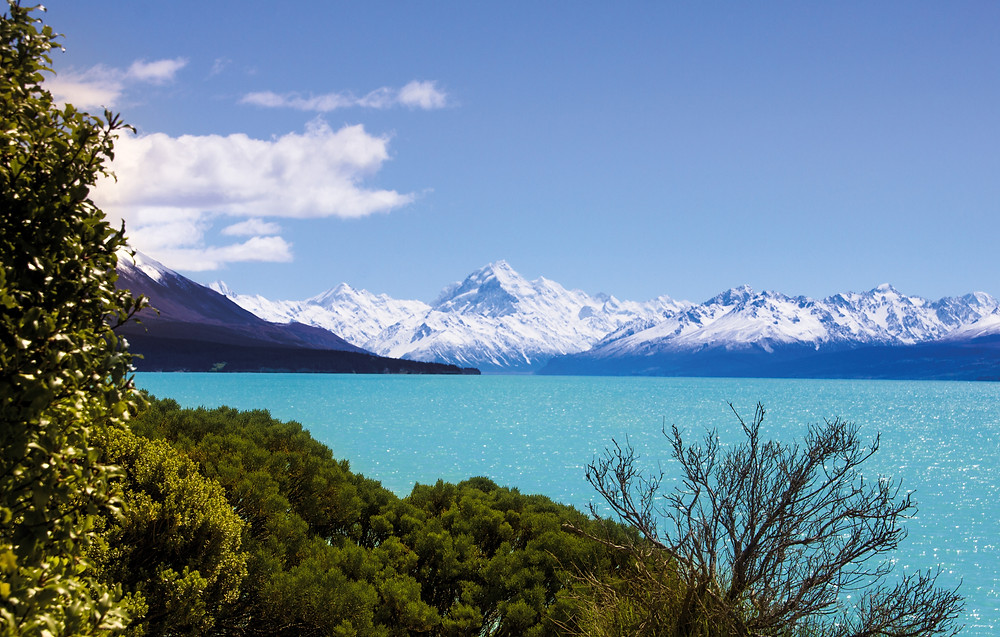 Mt. Cook, the highest mountain in New Zealand
