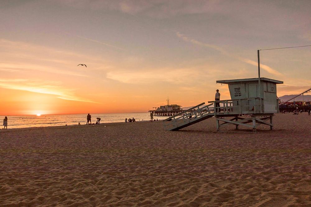 golden Sunset at Venice Beach