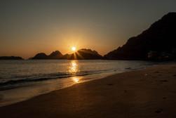sunrise at the beach in Vietnam
