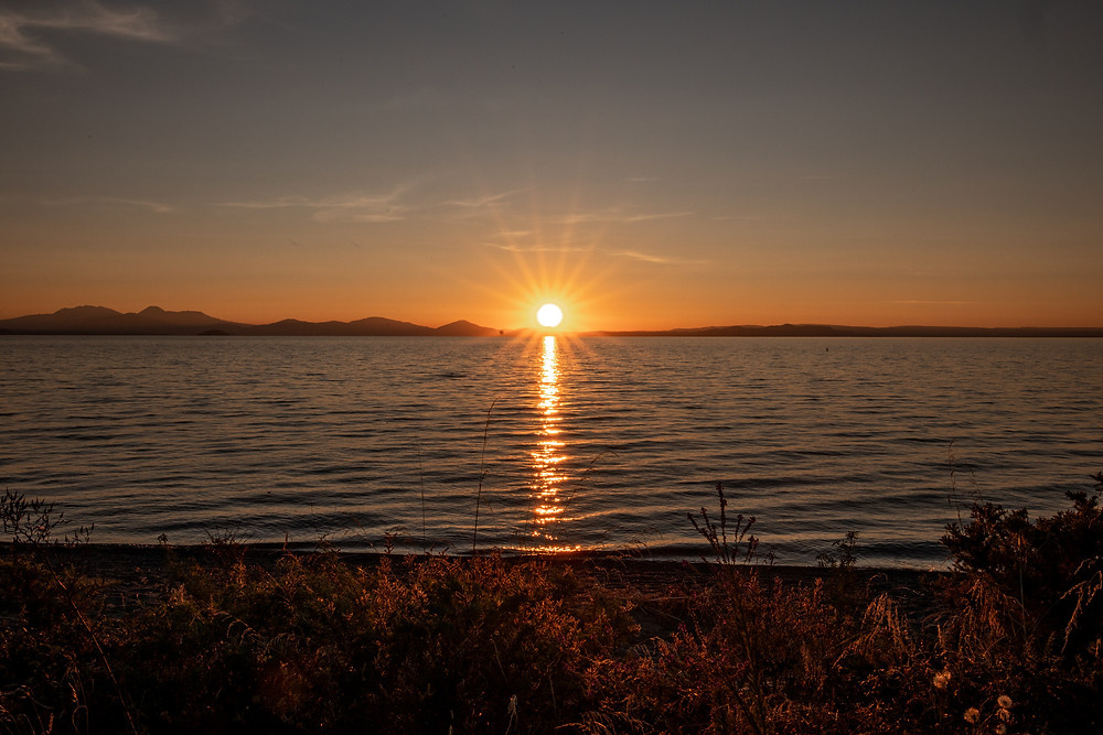Sonnenuntergang Lake Taupo