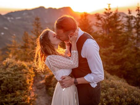 Sonnenuntergangs Fotoshooting in den Bergen