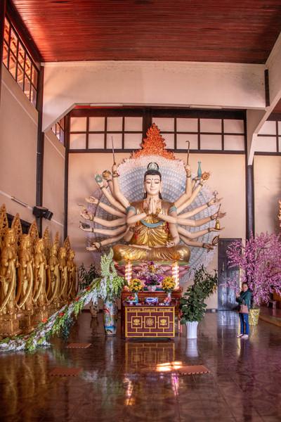 Statue in a Temple in Dalat in Vietnam