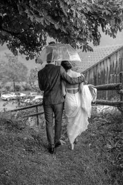 beautiful rainy weddingday