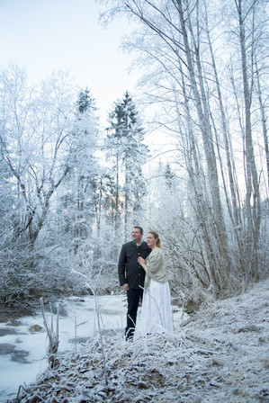 Verlobungsfotos im Winter