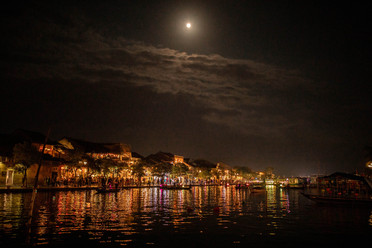 Full Moon over the old Town from Hoi An in Vietnam