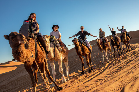 We rode on camels into the Sahara desert in Morocco Africa | Travel and Landscape Photography in Morocco Africa || Bohoray - Adventure Elopement and Wedding Photographer - Victoria Ruef || www.bohoray.com