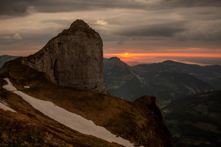 Sunset in Mellau, Vorarlberg, Austria
