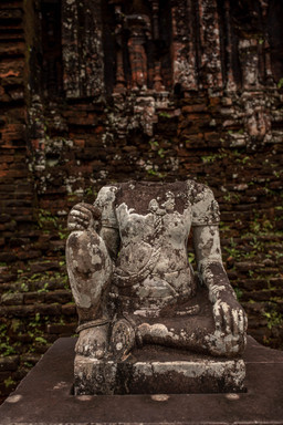 Headless statue at the My Son Hindu Sanctuary in Vietnam