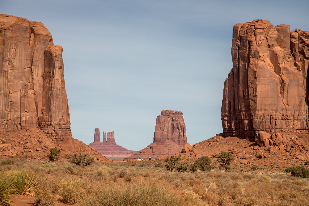 beautiful view in Towers in Monument Valley Navajo Tribal Park