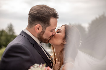 kissing bridal couple - now you can kiss the bride - wedding kiss