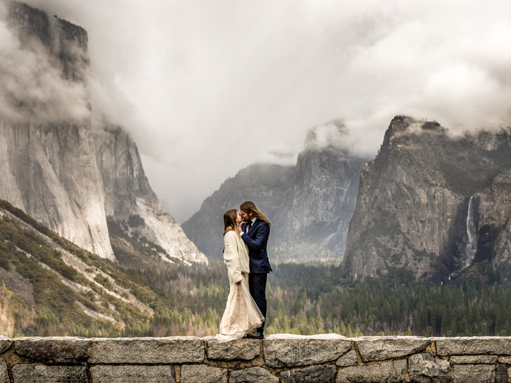 Adventure Destination Wedding Photo in Yosemite Nationalpark California