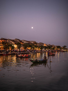 Full moon over the old Town in Hoi An