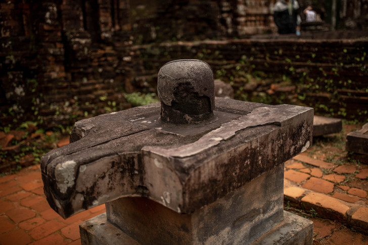 Shiva Linga in der My Son Sanctuary in Hoi An in Vietnam