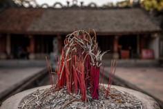 Joss sticks at the temple in Ninh Bin in Vietnam