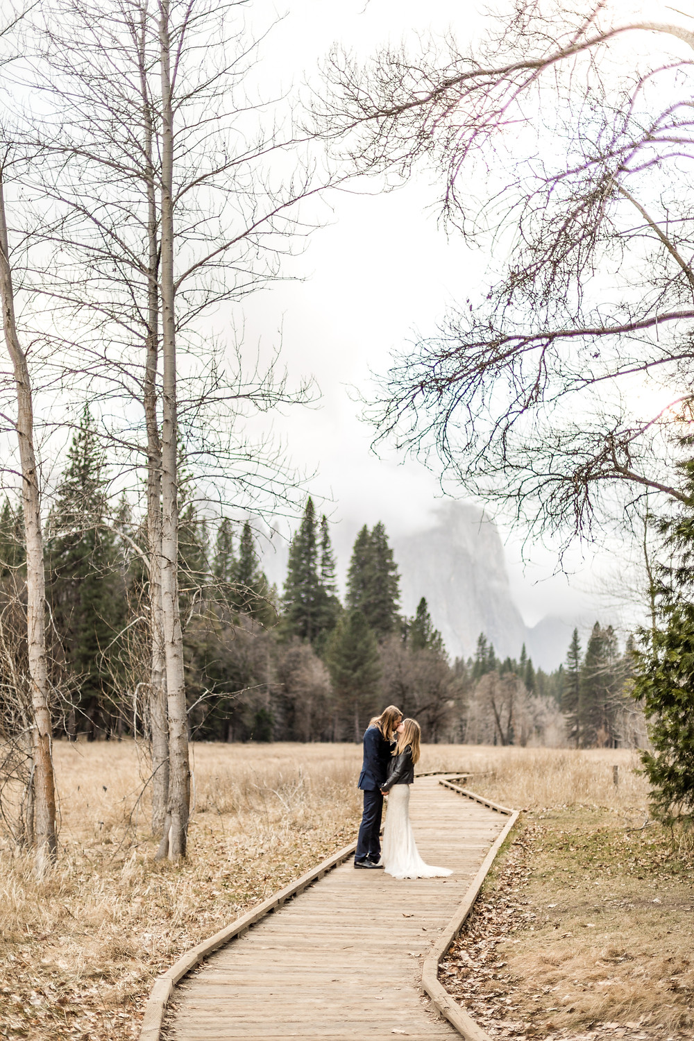 wedding photos from a Elopement in Yosemite