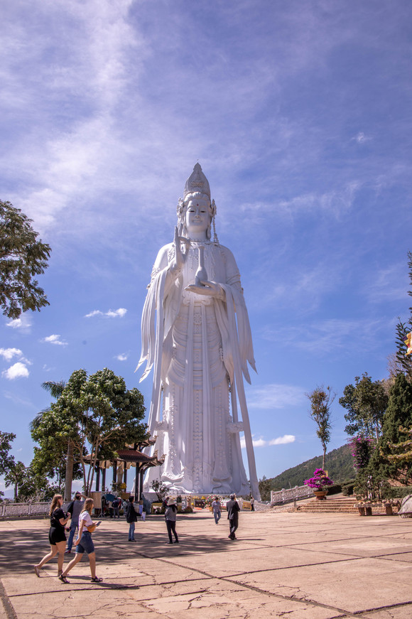 Very big Lady Buddha Statue in Dalat in Vietnam