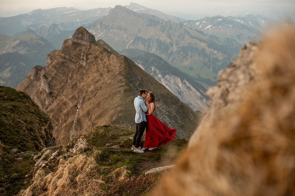 epic engagement photos in the Austrian mountains