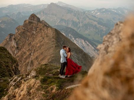 Paarfotos auf der Kansifluh in Vorarlberg