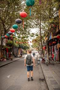 Colourful Lanterns in the Streets from Hoi An in Vietnam
