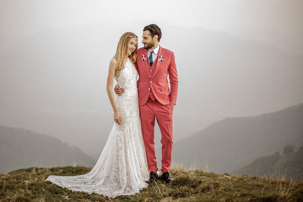 Mountaintop Elopement in Lake Como Italy || Destination Weddingphotographer Italy || Victoria Ruef - Bohoray Adventure Wedding & Elopementphotographer