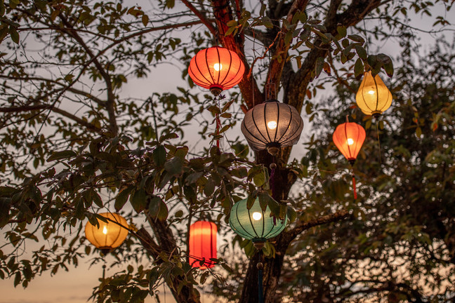 Beautiful Lanterns at the evening in Hoi An in Vietnam