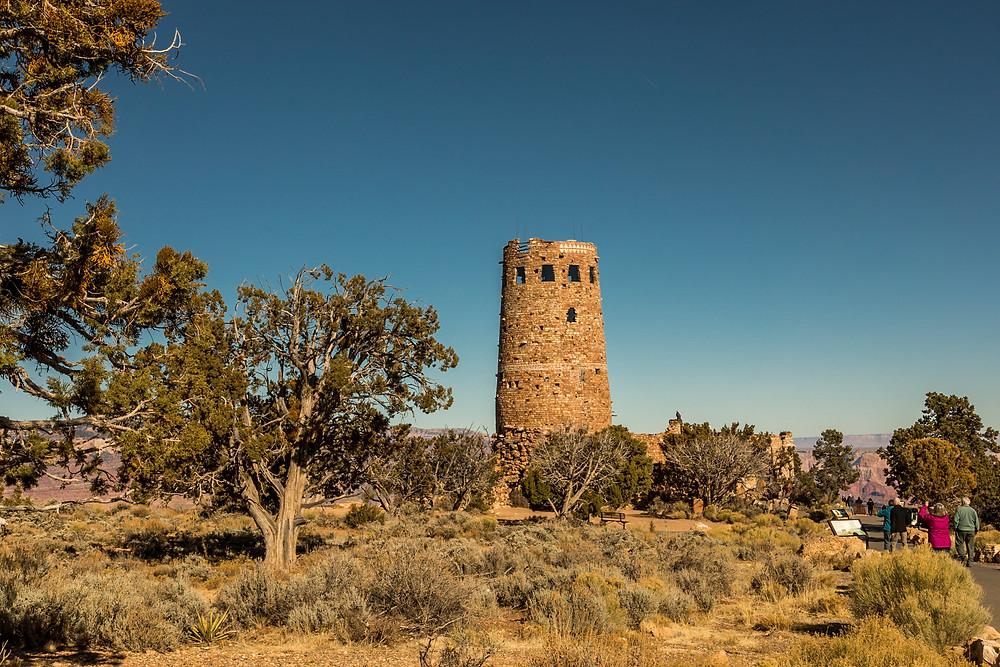 historic watch tower at Grand Canyon