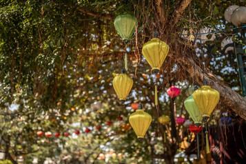 Colorful silken Lanterns in Hoi An Vietnam
