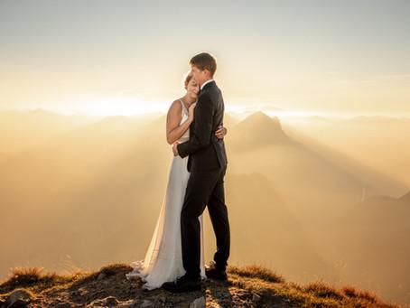 After Wedding Fotos in den Österreichischen Bergen