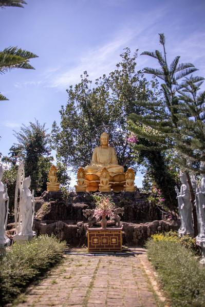 golden Buddha in Vietnam