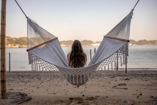 hammock at the beach in Vietnam