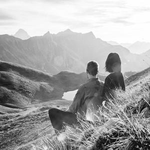 Paarfotografie in den Bergen