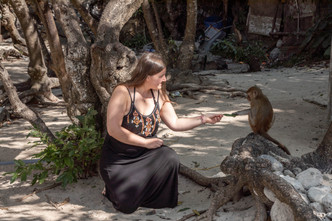 Moneky Island at Halong Bay in Vietnam is home to many cute monkeys