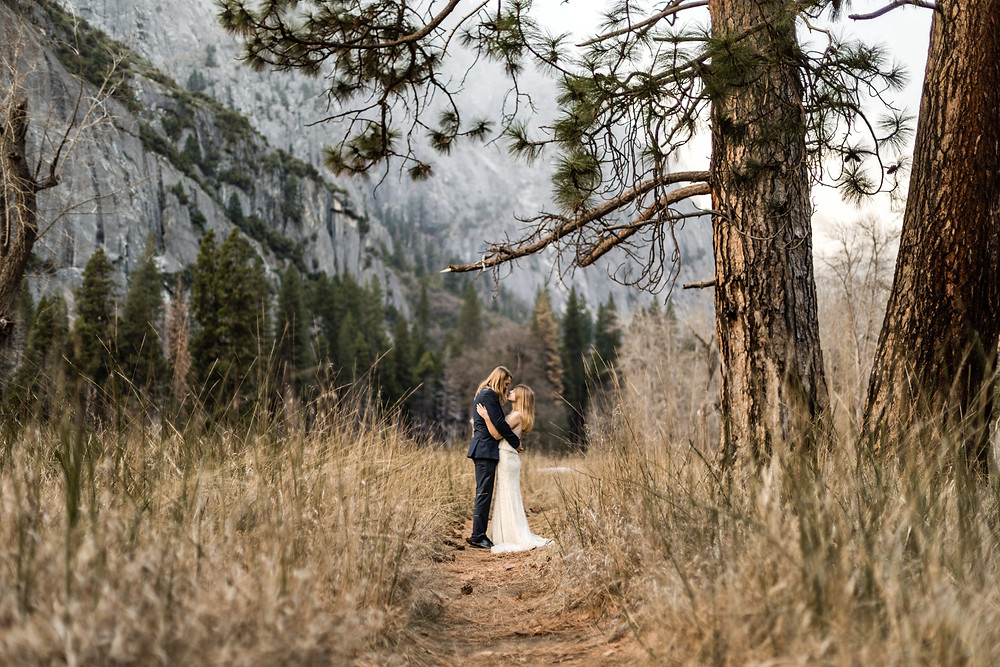 After wedding photographer in Austria, Yosemite couple photos