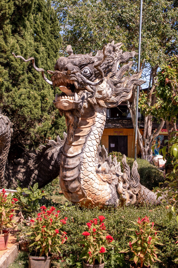 Dragon in front of a Temple in Dalat, Vietnam
