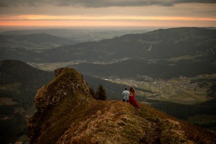 adventure engagement photo session in Bregenzerwald