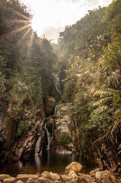 Waterfall in Sapa in Vietnam