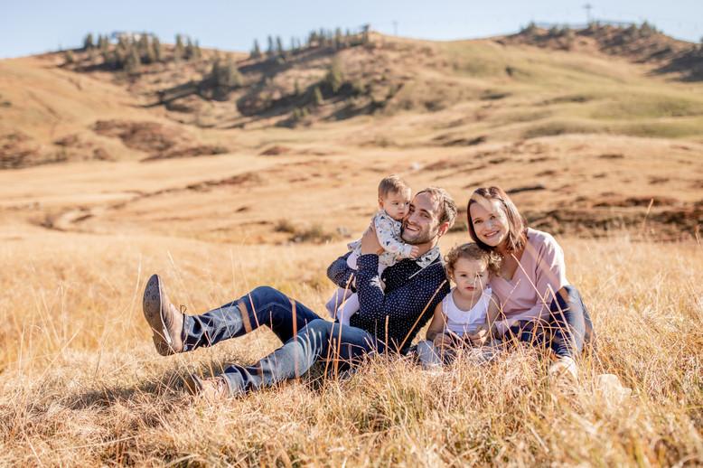 Familienfotos in den Bergen