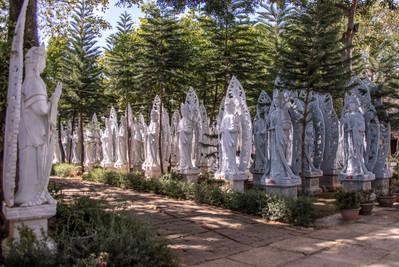 Buddhistic Statuary in Dalat in Vietnam