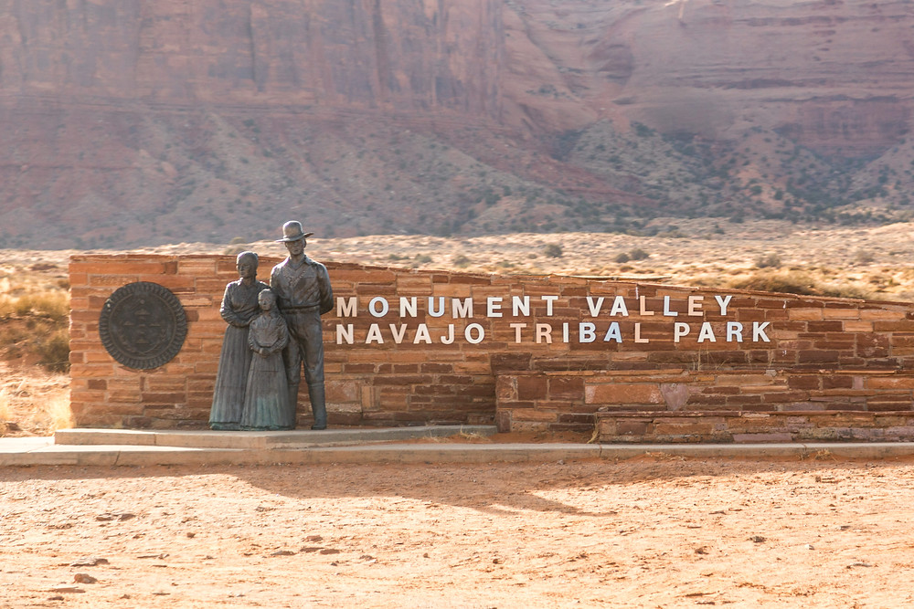 Monument Valley Navajo Tribal Park Sign