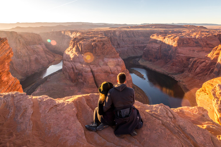 Selfportrait at Horseshoebend Arizona || Wild Embrace Photography | Adventure Elopement and Destination Wedding Photographer || worldwide || www.wildembrace.photo