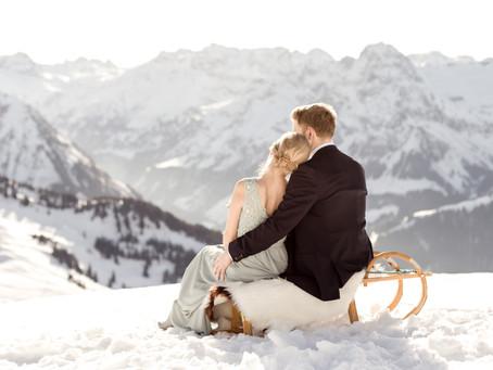 Winterhochzeit im Bregenzerwald