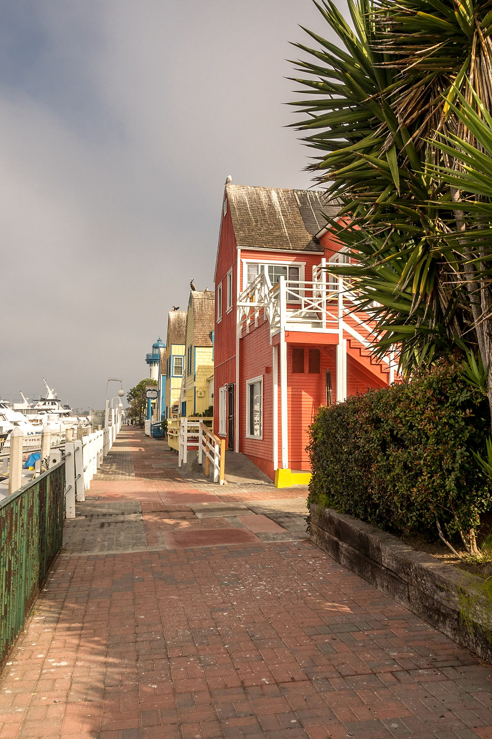 cute and colorful houses at the harbour