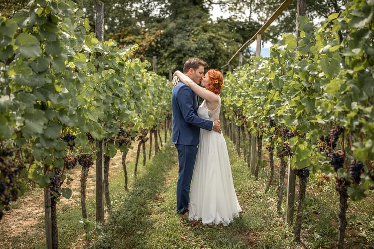 Brautpaarfotos im Weingut