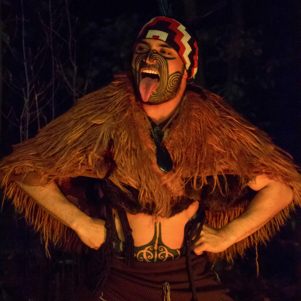 Kiwi Haka der Maori in Neuseeland