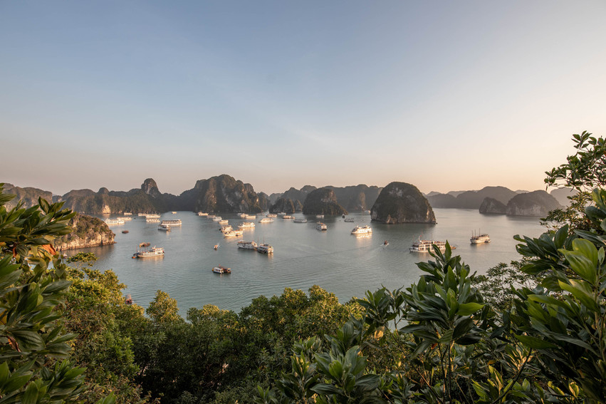 Amazing view over the islands of Ha Ling Bay from Tiptop Island
