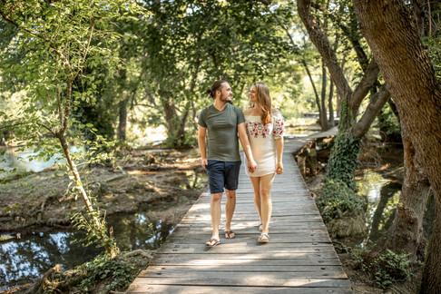 romantic couple photos in the krka nationalpark in croatia in europe