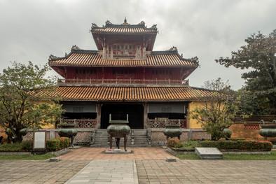 Citadel in Hue in Vietnam